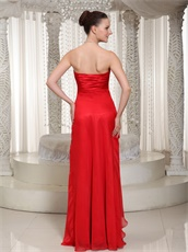 Affordable V Shaped Red Chiffon Princess Gathering Party Dress Most Choice