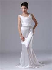 Professional V-Neck Silk Like Satin Mermaid Event Evening Dress Sample Dress