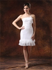 Affordable Short Homecoming Dress With Two Layers Lace Hemline