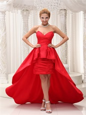 Sweetheart High-low Red Pageant Dress For Formal Party Superstar Same Style
