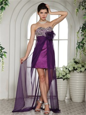 Flattering Eggplant Purple Sweetheart Beaded Prom Dress Without Slip