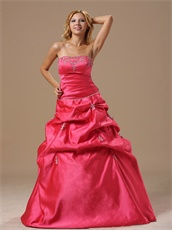 Coral Red Taffeta 2019 Thanksgiving Party Prom Dress Boutique