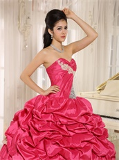 2019 Pretty Rose Hot Pink Brightly Quinceanera Cake Gowns Maiden