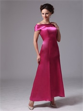 Fuchsia Off The Shoulder Latest Mother Of The Bride Dress Customize Plus Size