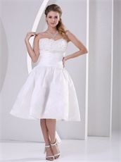 Petite Strapless Rosette Flowers White High School Prom Dress High Quality