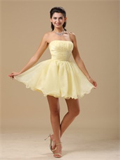 Vivacious Daffodil Mini Summer Cool Prom Dress Consult For Surprise