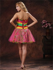 Colorful Beaded Mini-length Club Dress For Cocktail Party New Brand