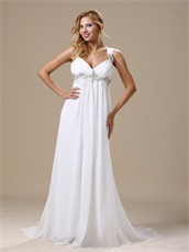 Straps Empire Waist Wedding Dress Maternity Custom Made Free