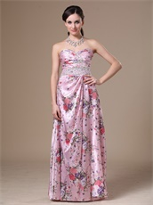 Printed Special Fabric Wives Prom Dress Royal Court Style