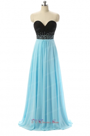 Empire Waist Black and Long Light Aqua Skirt For Wedding Ceremony