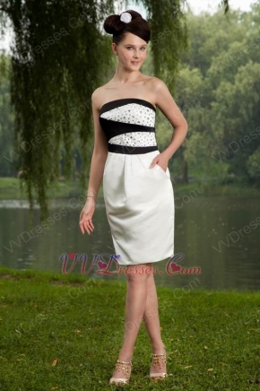 Strapless Crystal Bodice Short Ivory Homecoming Dress