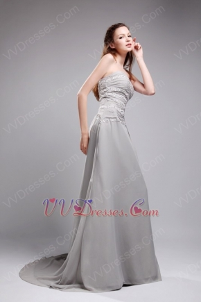 Grey Chiffon Hot Sell Dress For Women Join Formal Ocassion