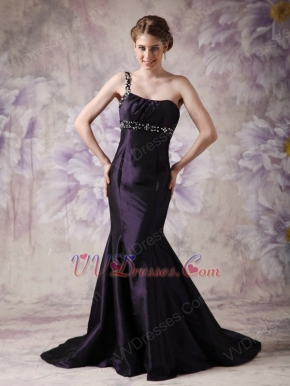 Mermaid Skirt Dark Purple Evening Dress For Woman Wear