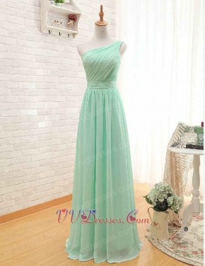Mint One Shoulder Bridesmaid Light-footed Prom Dress Long Under 80