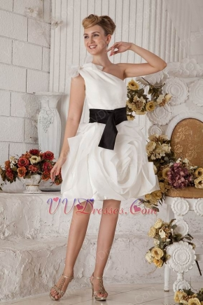 Rolled Fabric Flowers White Graduation 8th Grade Dress