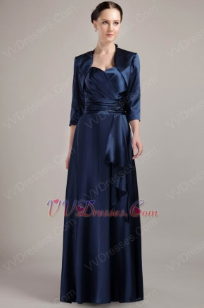 Navy Blue Halter Dress And Jacket Mother Of The Bride