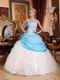 Fashion New White And Aqua Blue Quinceanera Dress