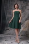 Strapless Knee-length Green Chiffon Bridesmaid Dress 2014 lovely
