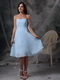 Sweetheart Baby Blue Knee-length Bridesmaid Dress lovely