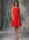 New Brand Wedding Bridesmaid Dress With Halter Red Chiffon Skirt lovely