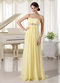 Light Yellow Chiffon New Arrival Bridesmaid Dress For Girls lovely