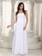 Pure White Simple Jr Long Bridesmaid Dress For Beach Wedding lovely