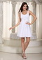 Bridesmaid Dress For Junior With Squar neck Chiffon Skirt lovely