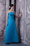 Sky Blue A-line Bridesmaid Dress Strapless Style lovely