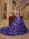 Shopping Online Strapless Purple Quinceanera Dress For La