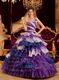 Purple One Shoulder Quinceanera Dress With Layers Ruffles Skirt