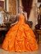 Strapless Orange Ball Skirt Quinceanera Dress 2014 New Style