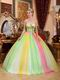 2014 Latest Fahsion Contrast Color Colorful Quinceanear Dress