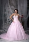 Fashionbale Sweetheart Pink Bridal Gown With Chapel Train Low Price