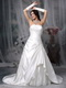 Top Seller Stain Court Train Western Wedding Dress Ivory Low Price