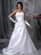 Strapless A-line Silhouette Cheap Wedding Dress With Lace Low Price