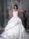 Bubble Skirt One shoulder Looks Puffy Wedding Dress White Low Price