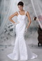 Luxurious Trumpet Petite Wedding Gown With Lace Appliques Low Price