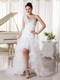 High Low Wedding Dress One Shoulder Sweetheart Skirt For Cheap Low Price