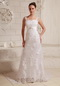 Luxurious Straps Column Lace and Satin Wedding Dresses Wholesale Low Price