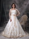 Strapless Ivory Wedding Dress And Jacket With Golden Embriodery Low Price