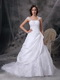 Embriodery Straps Square Neck Wedding Dress For Bride Wear Low Price