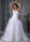 Pretty Ruffles Puffy Skirt Wedding Party Bride Dress White Low Price