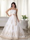 Inexpensive Champagne Appliques Wedding Dress With Belt Low Price