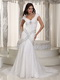 Sexy Mermaid V-neck Petite Wedding Dress With Rhinestone Low Price