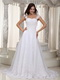 Gorgeous Cap Straps Sale Wedding Dress Decorate With Lace Low Price