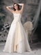 Ivory and Champagne Sweetheart Wedding Bridal Gown Puffy Low Price