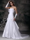 Beautiful Strapless Aline Skirt Wedding Dress With Court Train Low Price