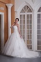 Embroidery Strapless Chapel Train Puffy Wedding Gowns Bridal Low Price
