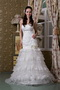 Lace Fashionable Ruffled Layers Discount Wedding Dress For Sale Low Price