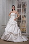 Custom Fit Off White Luxurious Strapless Puffy Wedding Gowns Low Price